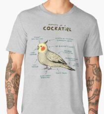 Anatomy of a Cockatiel Men's Premium T-Shirt