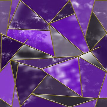 Stained Glass in Violet by ElysiumDesign