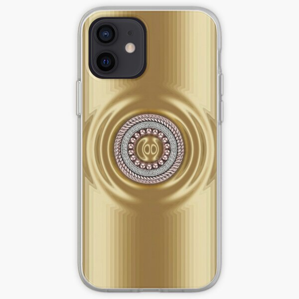 Golden Series with Round Diamond Ring iPhone Soft Case