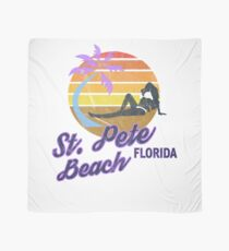 St. Pete Beach, Clearwater, Florida USA America Retro Classic Surf T-Shirt Scarf