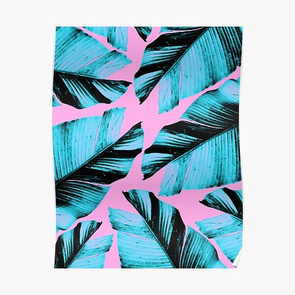 Tropical Banana Leaves Vibes #3 #foliage #decor #art Poster