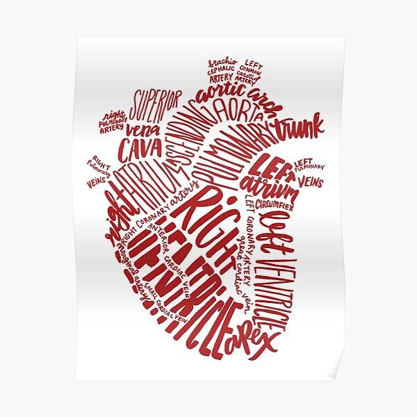 Handwritten Heart Poster