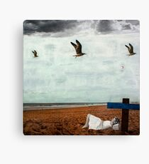 GREY SUMMER BREEZE Canvas Print
