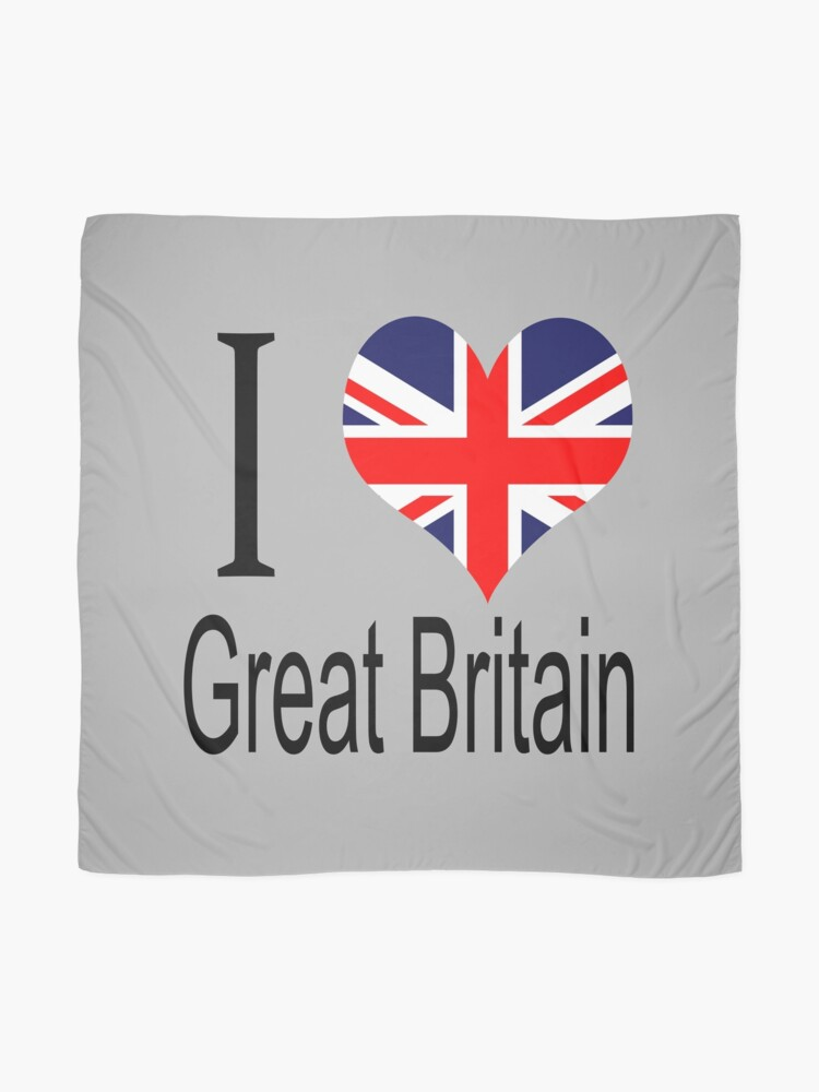 Alternate view of I Love United Kingdom Scarf