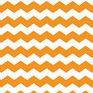 Orange and White Chevron Print by itsjensworld