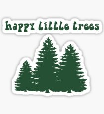 happy lil trees Sticker