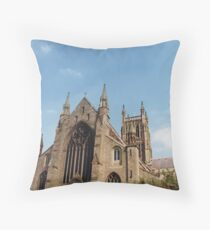 Worcester Cathedral, Worcester, England Throw Pillow