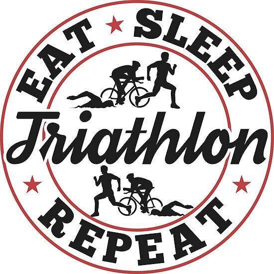 Eat Sleep Triathlon Repeat T-Shirt - Cool Funny Nerdy Comic Graphic Triathlete Triathlete Coach Team Team Coach Humor Sayings Sayings Statement Shirt Gift ...