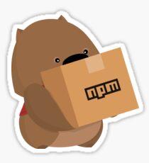 Pegatina NPM: wombat útil