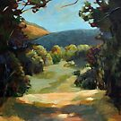 The Backroads - Original oil on canvas summer landscape by LindaAppleArt
