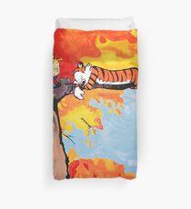 Calvin and Hobbes Autumn Duvet Cover
