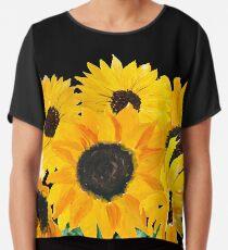 Gemalter Sonnenblumenstrauß Chiffontop
