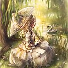 Victorian lady ~ summer by the riverbank by Lizziefij