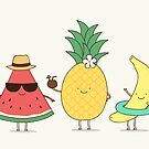 Tropical fruits by Milkyprint
