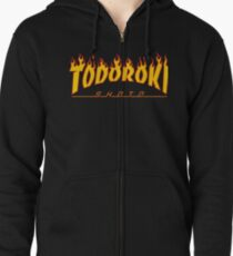 Todoroki Shoto Thrasher (Fire) Zipped Hoodie