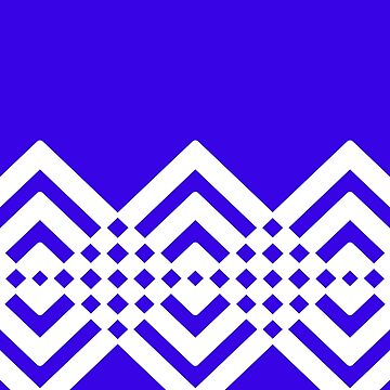 Abstract geometric pattern - blue and white. by kerens