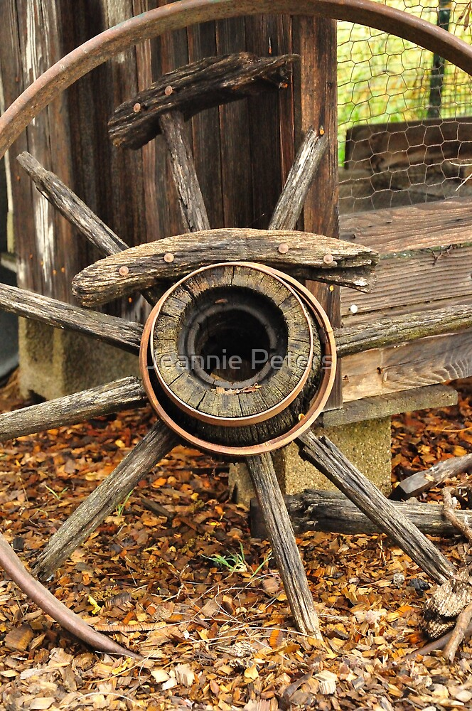 wagon wheel by Jeannie Peters