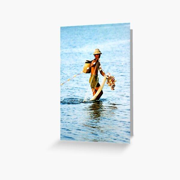 Balinese Fisherman Greeting Card