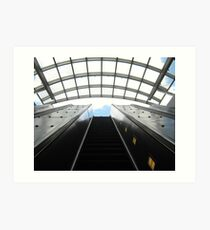 Metro Rail Escalator Canopy  Art Print