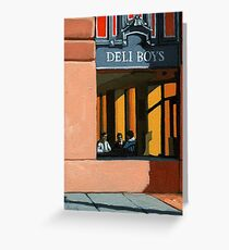 Deli Boys - people oil painting Greeting Card
