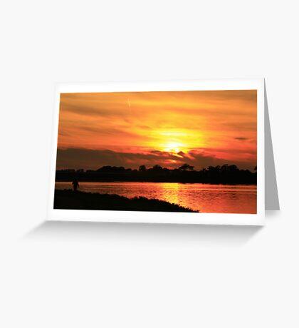 @ Sunset  Greeting Card