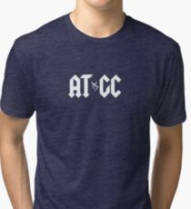 ATGC DNA Funny Double Helix Graphic Science Teacher Tri-blend T-Shirt