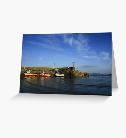 Loughshinny Cove Harbour Greeting Card