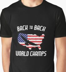 517d2646 USA Back to Back World Champs Eagle Soaring America Graphic T-Shirt