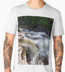 River rapids rushing over rocks Men's Premium T-Shirt