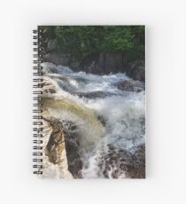 River rapids rushing over rocks Spiral Notebook
