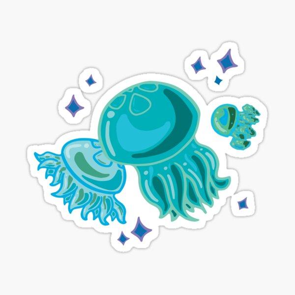 Teal Jellies Sticker
