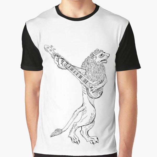 Sitar playing lion Graphic T-Shirt