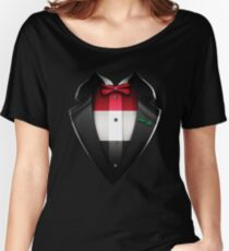 Iraq Flag Iraqi Roots DNA and Heritage Tuxedo Women's Relaxed Fit T-Shirt