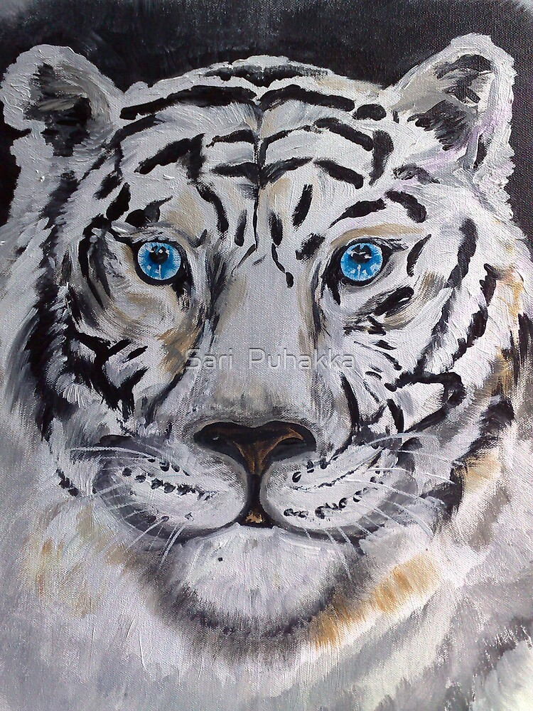 "White Tiger ""Blue Eyes"" by Sari  Puhakka"