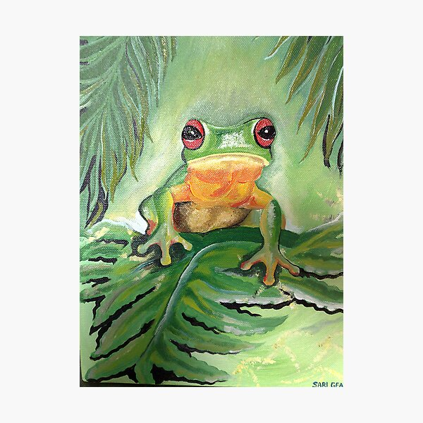 Champion Frog Photographic Print