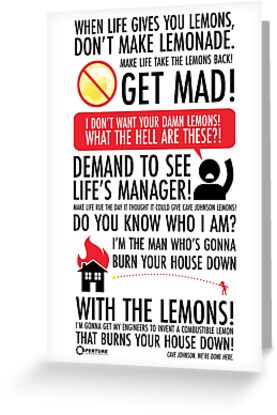 When life gives you lemons greeting cards by jerry ruvalcaba when life gives you lemons by jerry ruvalcaba m4hsunfo