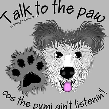 Talk to the paw - grey Hungarian pumi by BonnyGraphics