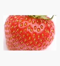 Strawberry macro Photographic Print