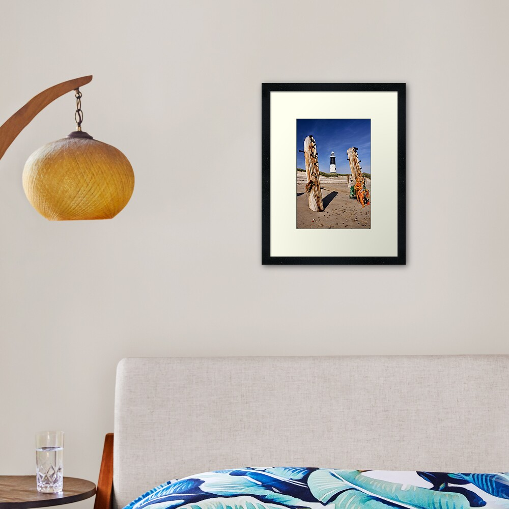 Spurn Point Lighthouse Framed Art Print