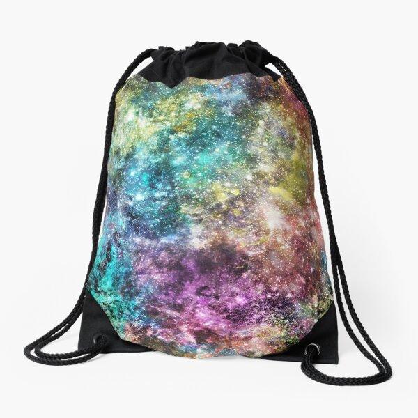 Galaxy - Rainbow Splatter Drawstring Bag