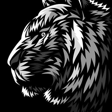 Tribal profile tiger by albertocubatas