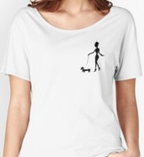 Flaunting The Pooch (peach) - Dachshund Sausage Dog Women's Relaxed Fit T-Shirt