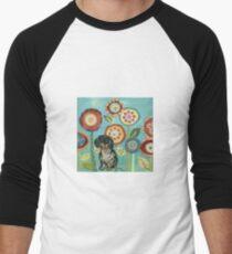 Camiseta ¾ bicolor para hombre Dapple Doxie