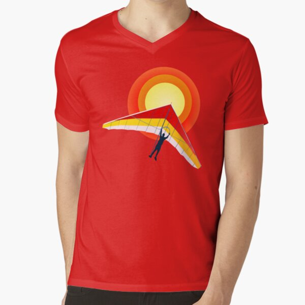 Hang Glider V-Neck T-Shirt