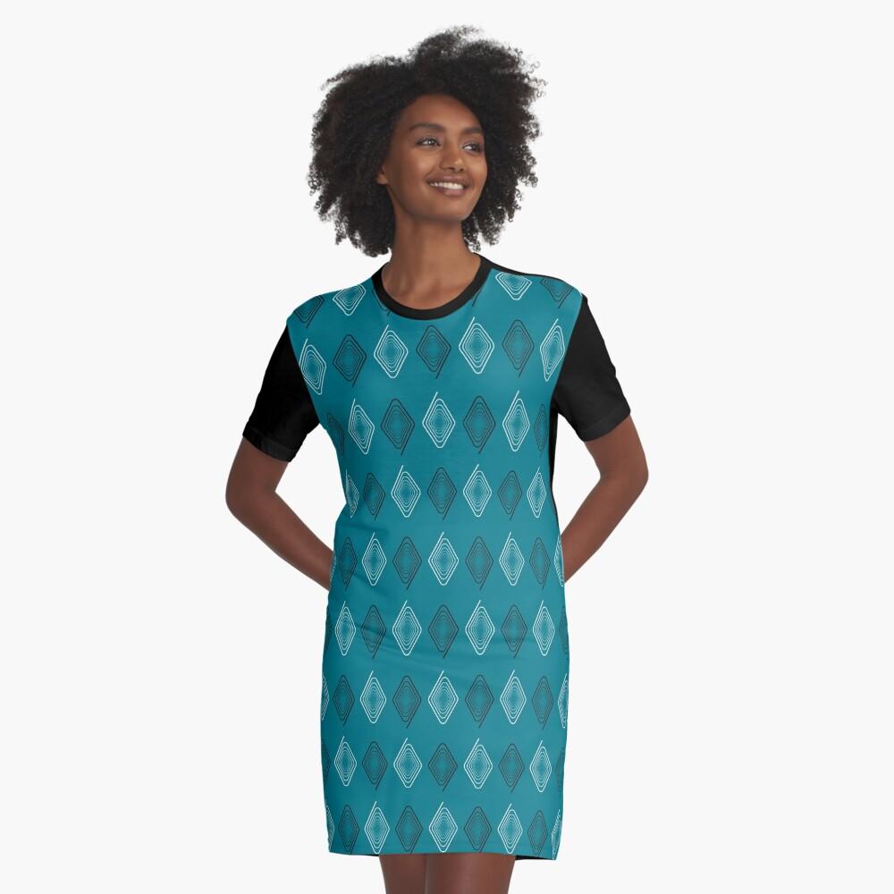 NDVH Diamonds 2 Graphic T-Shirt Dress Front
