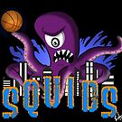 The Squids - Basketball Parody Team Logo by AxtInk