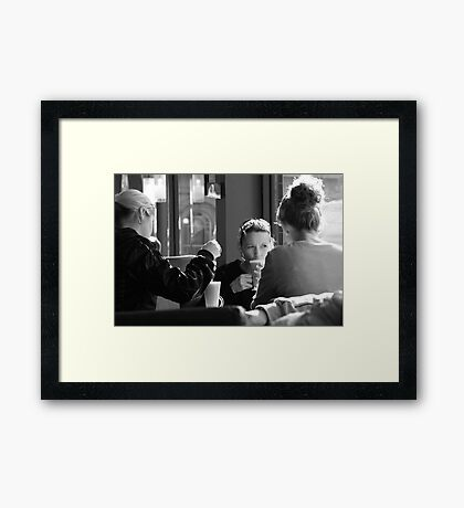 Lattes All Round Framed Print