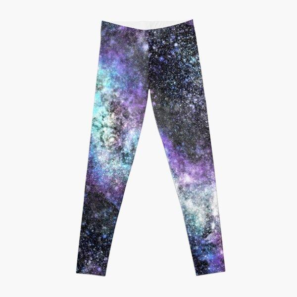 Galaxy - Purple, Blue, White Diagonal Galaxy Leggings
