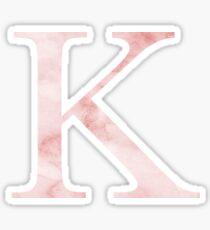 Pink Marble K Sticker