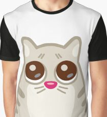 Funny Sad Cat Tshirt and Stickers - Cat Gifts for Cat lovers everywhere! Graphic T-Shirt